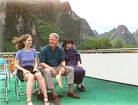 The Clinton family on the Li River
