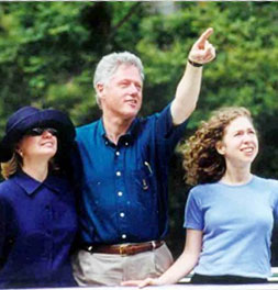 Bill Clinton and his family