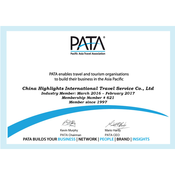 PATA enables China Highlights to build business in the Asia Pacific from March 2016 to March 2017