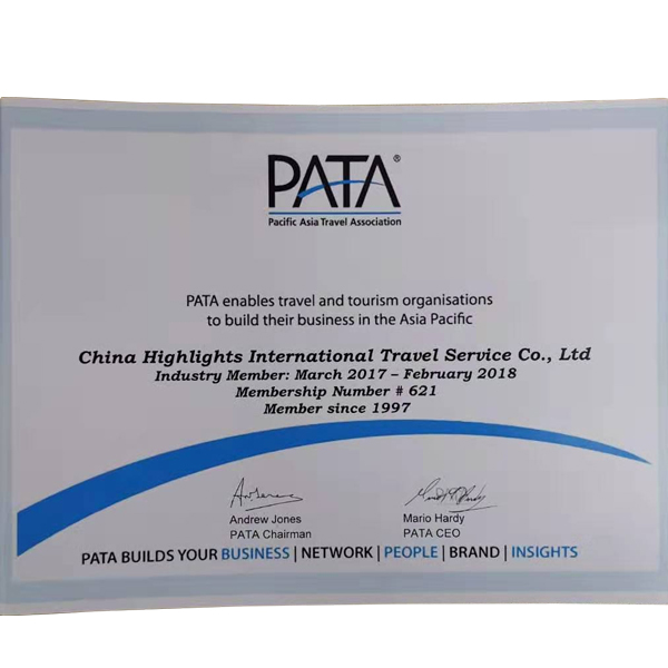 PATA enables China Highlights to build business in the Asia Pacific from Mar. 2017 to Feb. 2018
