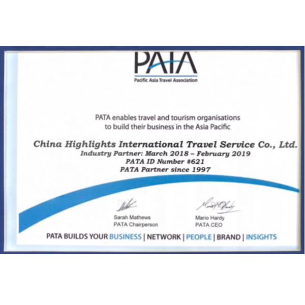 PATA enables China Highlights to build business in the Asia Pacific from March 2018 to February 2019