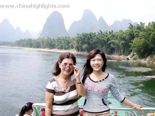 Natasha and Customers on Li River
