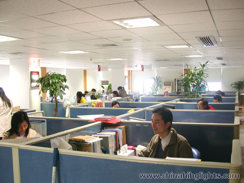 China Highlights Staff at Working Time