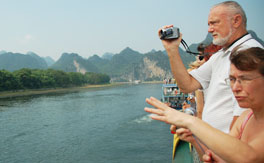 China Highlights customers is enjoying the amazing scenary of Li River