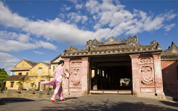 Lady Walking in Hoi An