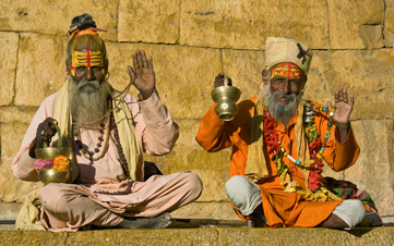 Sadhu Hholy Men in Varanasi India