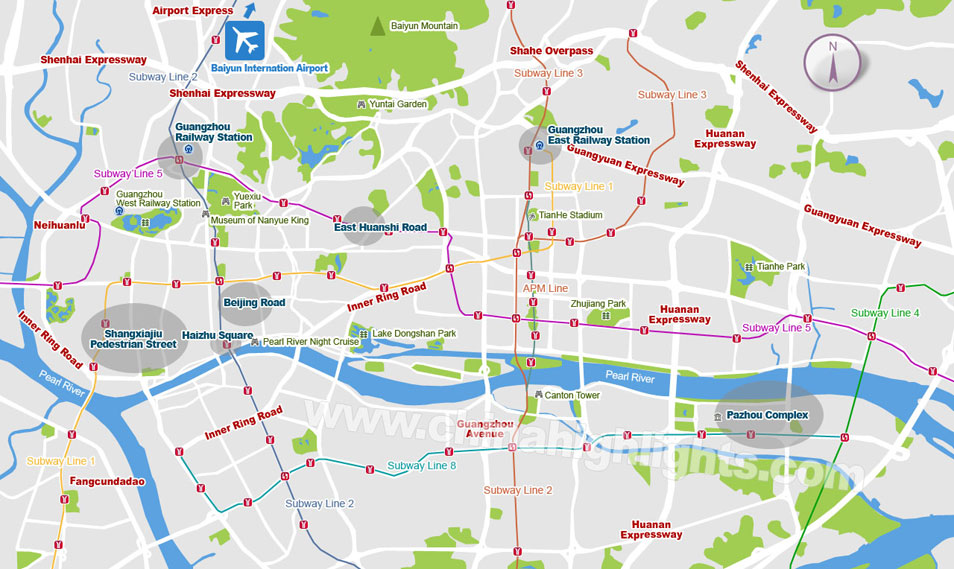 Guangzhou accommodation: A Visual map to where to stay in Guangzhou