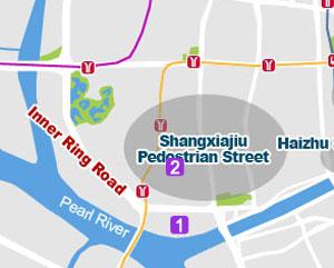 Shamian Island map
