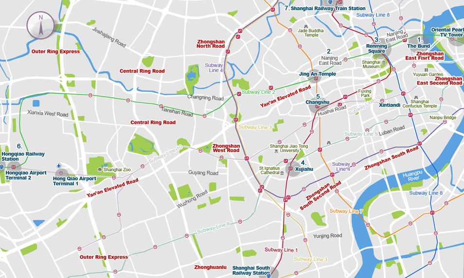 Shanghai accommodation: A Visual map to where to stay in Shanghai