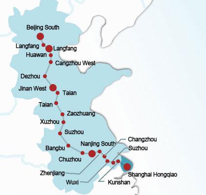 Beijing-Shanghai Rail Route