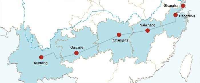Resultado de imagem para shanghai kunming railway