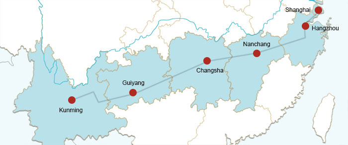 Resultado de imagem para shanghai kunming high speed rail