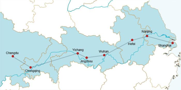 Xangai-Chengdu Rail Route