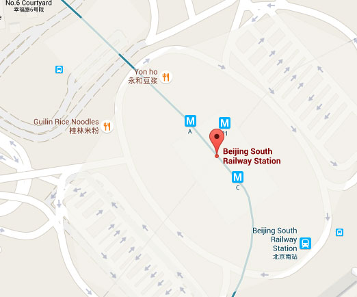 Beijing Nan South on Map