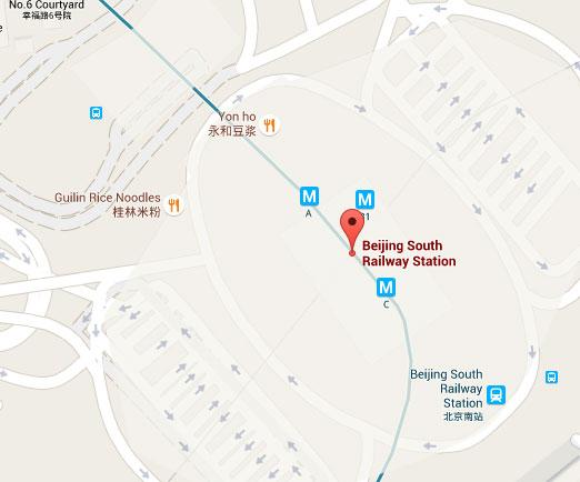 Beijing Nan South on Map
