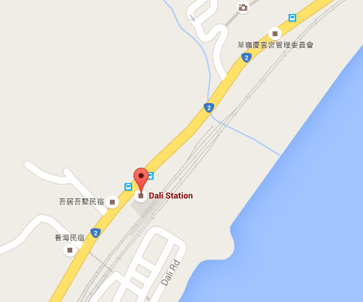 Dali Railway Station on Map