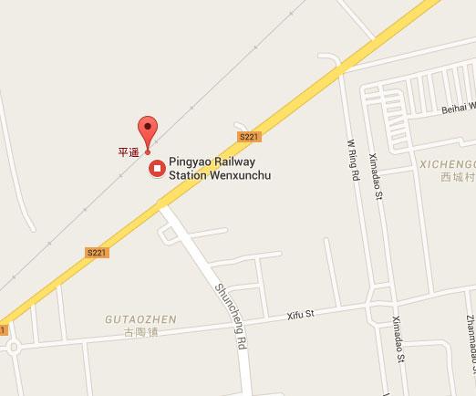Pingyao street map