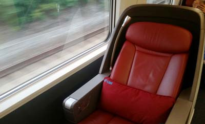 business class on G-train