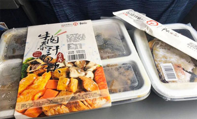 Food on train