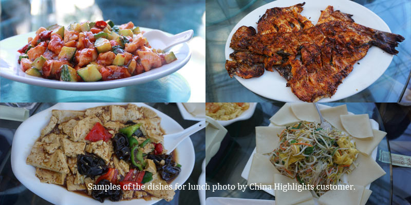 Sample dishes of Xinshuangquan Restaurant
