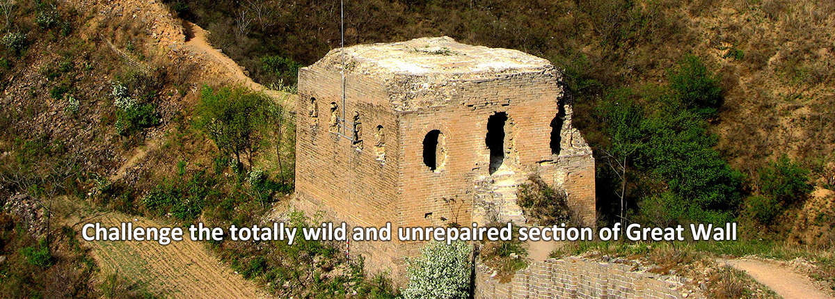 Challenge the totally wild and unrepaired section of Great Wall.
