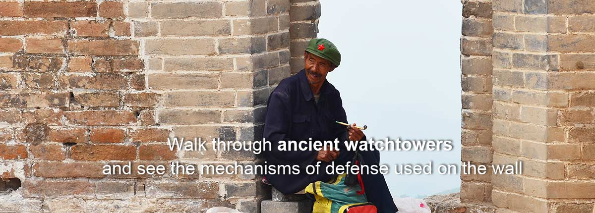 Walk through ancient watchtowers and see the mechanisms of defense used on the wall.