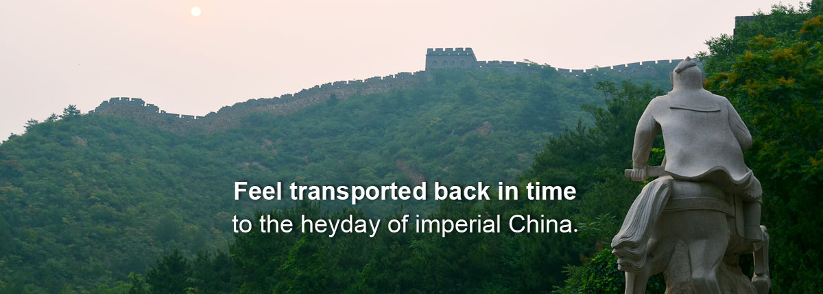Feel transported back in time to the heyday of imperial China.