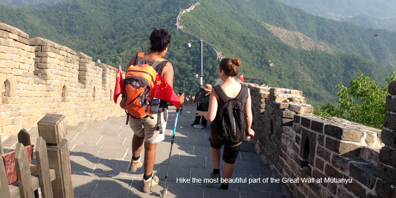 Hike the Great Wall at Mutianyu.
