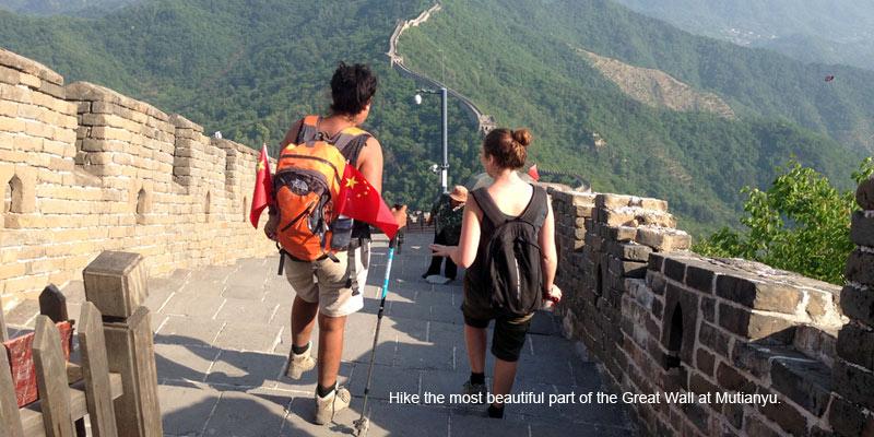 Hike the Great Wall at Mutianyu.