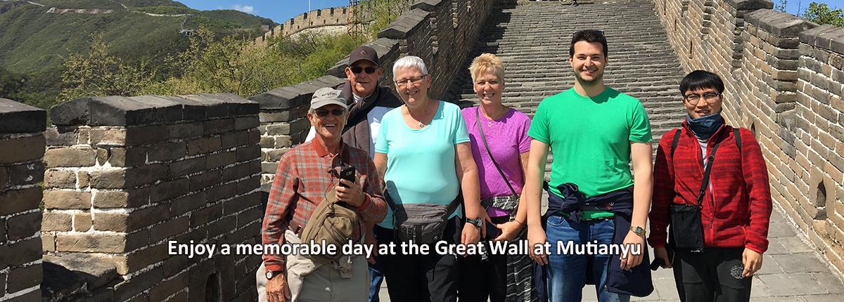 Enjoying a memorable day at the Great Wall at Mutianyu