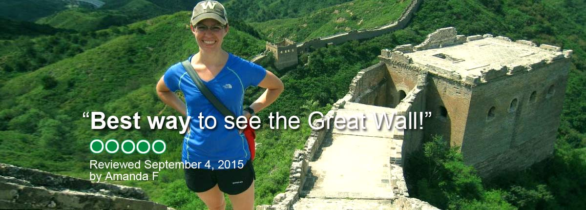 """""""Best way to see the Great Wall!"""""""