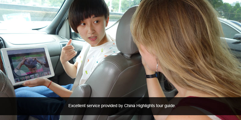 excellent service provided by China Highlights tour guide.