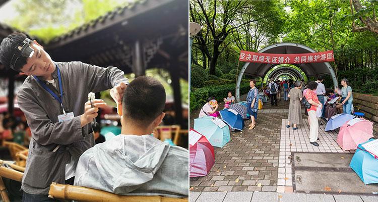 see Chengdu local people