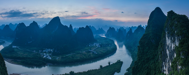 Xianggong Mountain and Li River