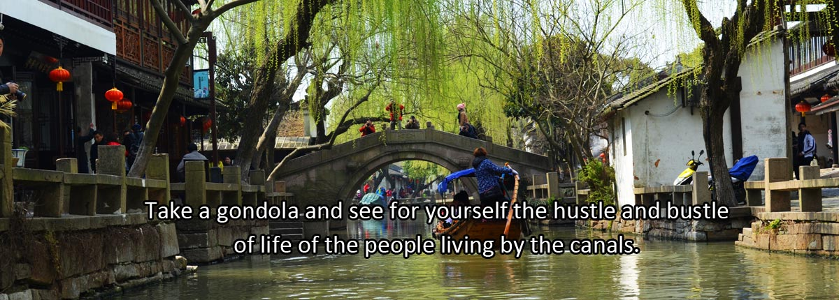 Take a gondola and see for yourself the hustle and bustle of life of the people living by the canals