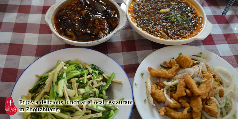 Enjoy a local lunch at Zhouzhuang.