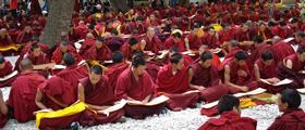 Buddhism Debates in Sera Monastery