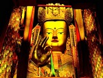 Buddhist statue of monastery in Tibet