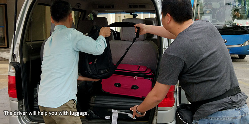 The driver will help you with luggage.