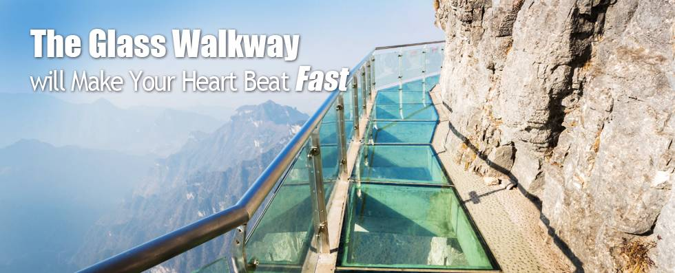 Suspended Glass Walkway on Tianmen Mountian Zhangjiajie