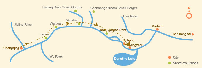 Yangtze Cruise Route