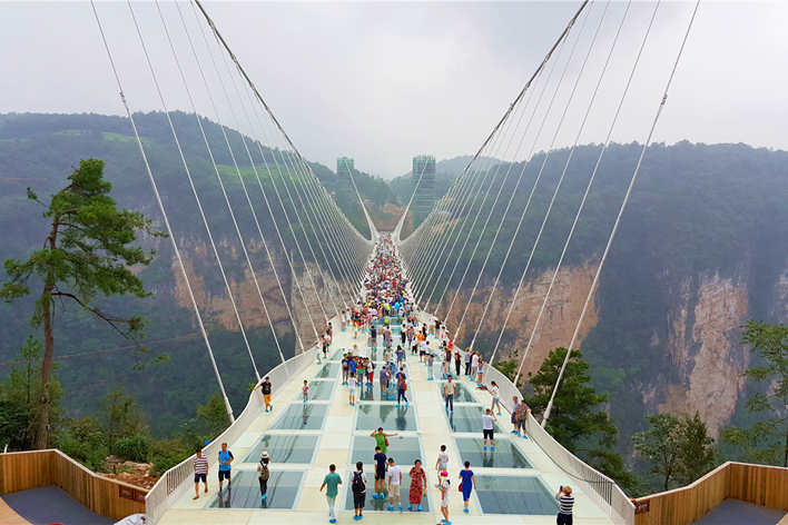 One-day Private Tour to Zhangjiajie Grand Canyon and Baofeng Lake