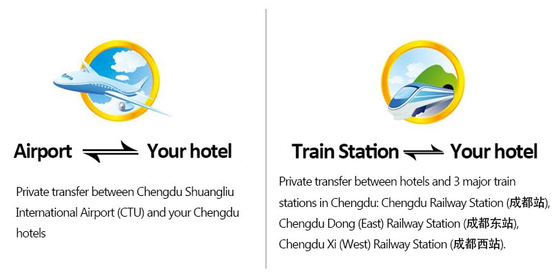 One-way private transfer between the Chengdu Airport or Chengdu