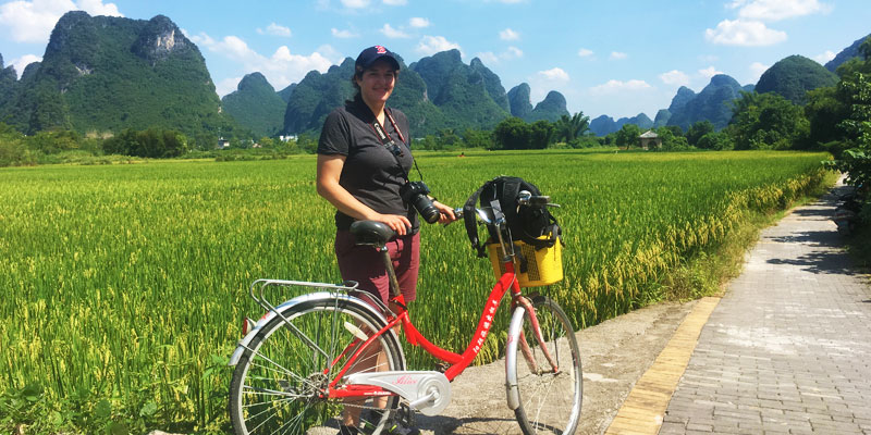 Biking in the countryside of Yangshuo