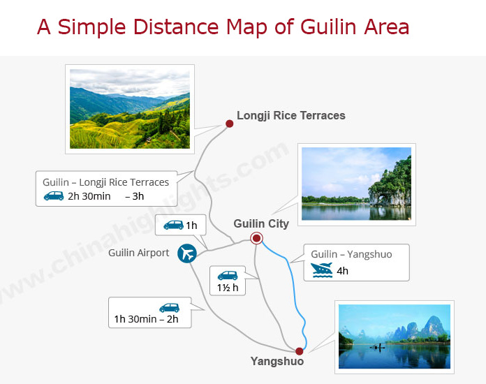 A map of Guilin area