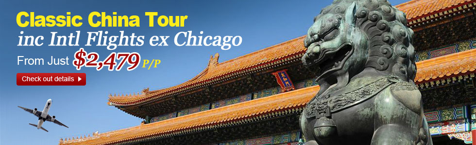 China tour from Chicago