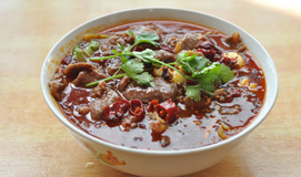 Pouched Sliced Beef in Chili Oil