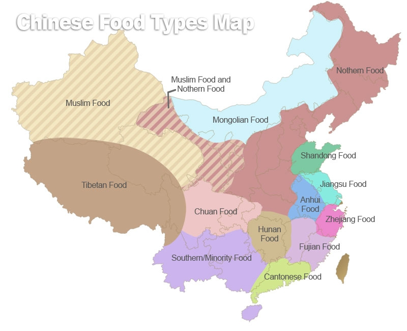 China Regional Cuisines Map