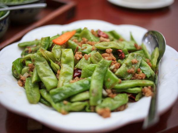 Fried string beans