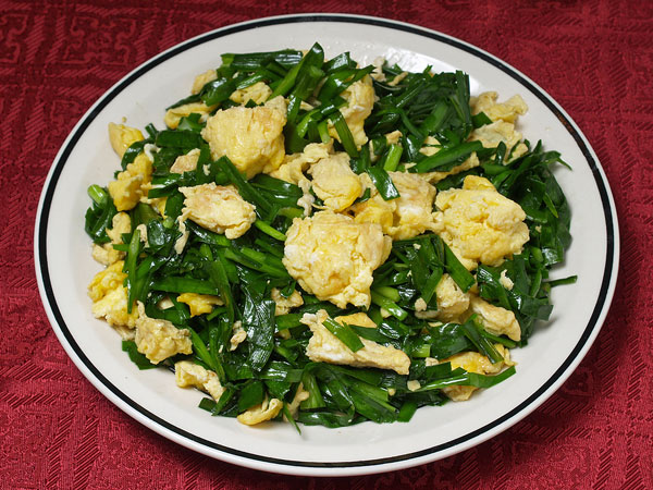 Scramble Eggs with Chives
